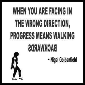 Walking Backwards Is Not Progress
