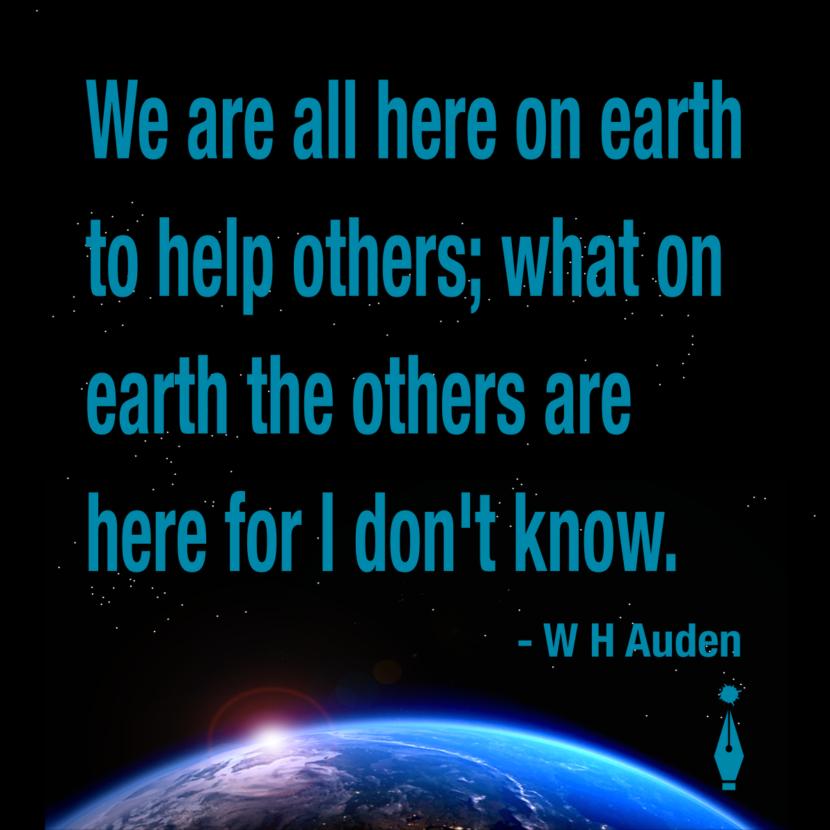 WH Auden Quote