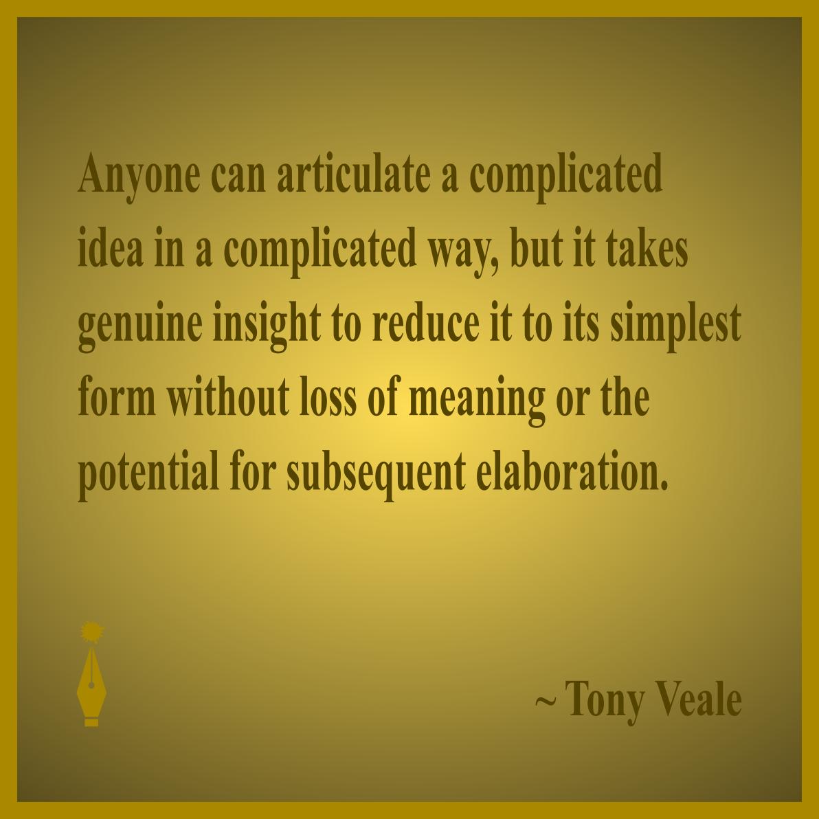 Tony Veal quote